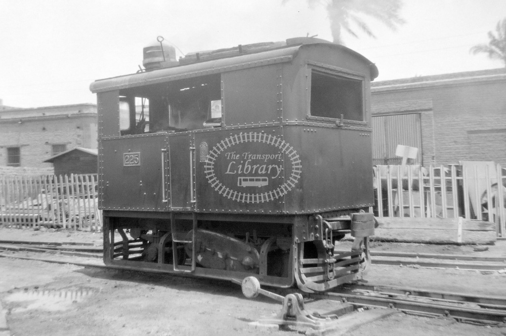 EDLR Egyptian Delta Light Railways Steam Locomotive Class Sentinel (1926) 225  at Egypt in 1942 - Neville Stead Collection