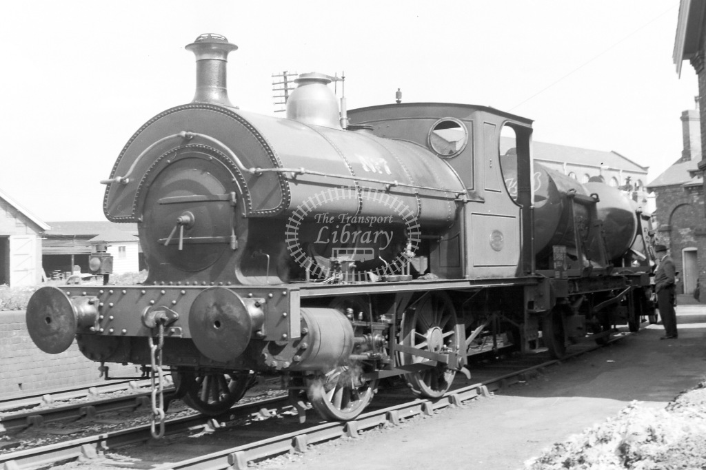 Bass, Ratcliff and Gretton Brewery Industrial Steam Locomotive Class Thornewill & Warham 0-4-0ST re-built by Hunslet 1899 & 1915 400/1875 No 7  at Burton-on-Trent in 1960 - 21/05/1960 - Neville Stead Collection
