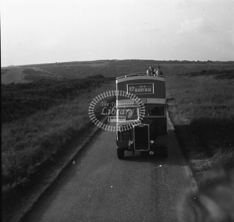 HL-B0161 - Southdown 499 GUF399 open-top route 97 - Henry Luff - Online Transport Archive