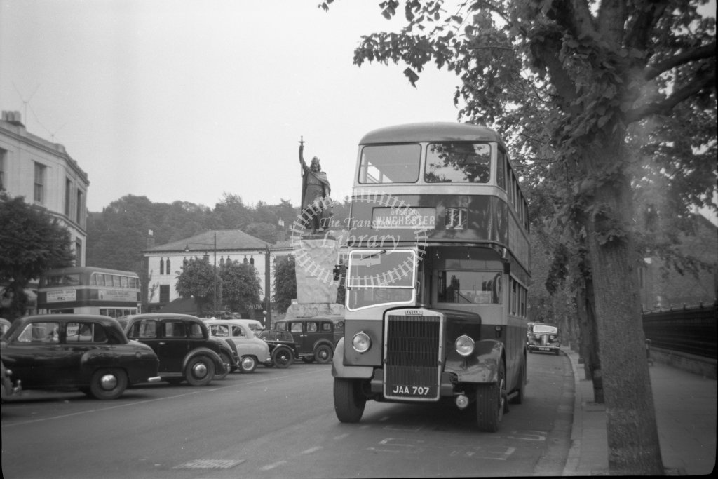 ME-B038 - King Alfred Motor Services JAA707 route 11 - Winchester - Marcus Eavis - Online Transport Archive
