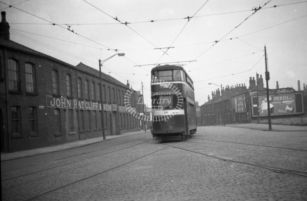 JT-T75 - Leeds 562 - route 16 - Tong Road (Whingate) Upper Wortley - 12 September 1954 - Julian Thompson