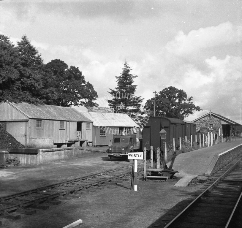Meredith 75-8 - BR (SR) Petrockstow station from west - 19 July 1949 - Online Transport Archive