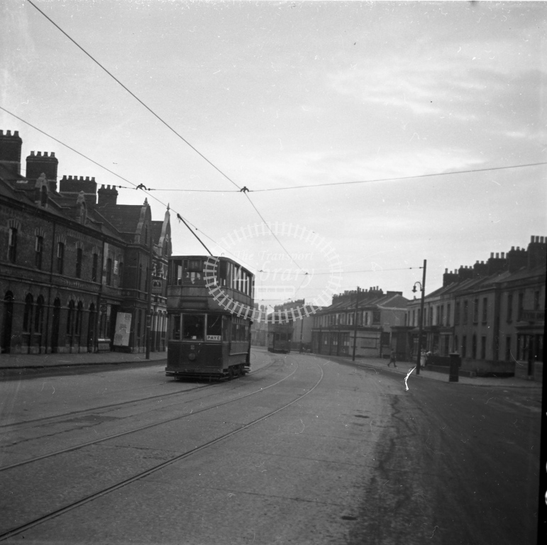 Meredith 99-3 ? Cardiff 2 and 114 Bute Terrace 4 February 1950 - Online Transport Archive