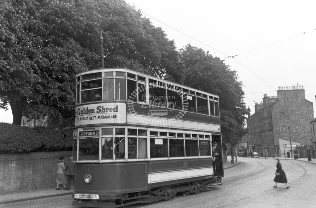 Dundee Corporation Tram/Strassenbahn Class Lochee' built by Brush, 1930 No. 24  at Dundee   in 1954 -  26/06/1954  - Peter Gray