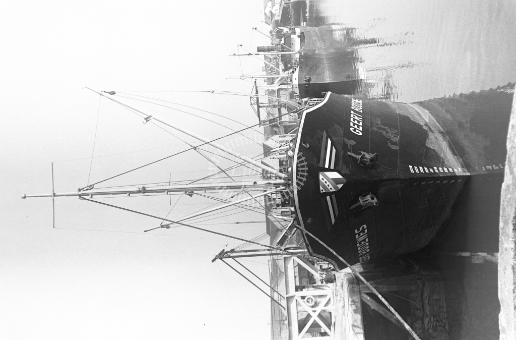 Unknown Cargo Ship Class No details Geert Bodewes and Rex  at Teignmouth Old Quay  in 1955 -  14/03/1955  - Peter Gray