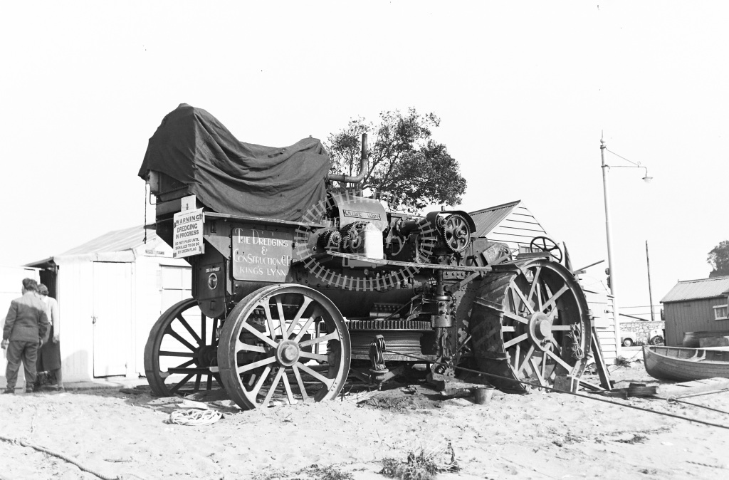 The Dreging & Ploughing Co. Kings Lynn Traction Engine Class Fowler ploughing engine converted with McLaren Ricardo diesel 14379  at Teignmouth  in 1956 -  26/05/1956  - Peter Gray