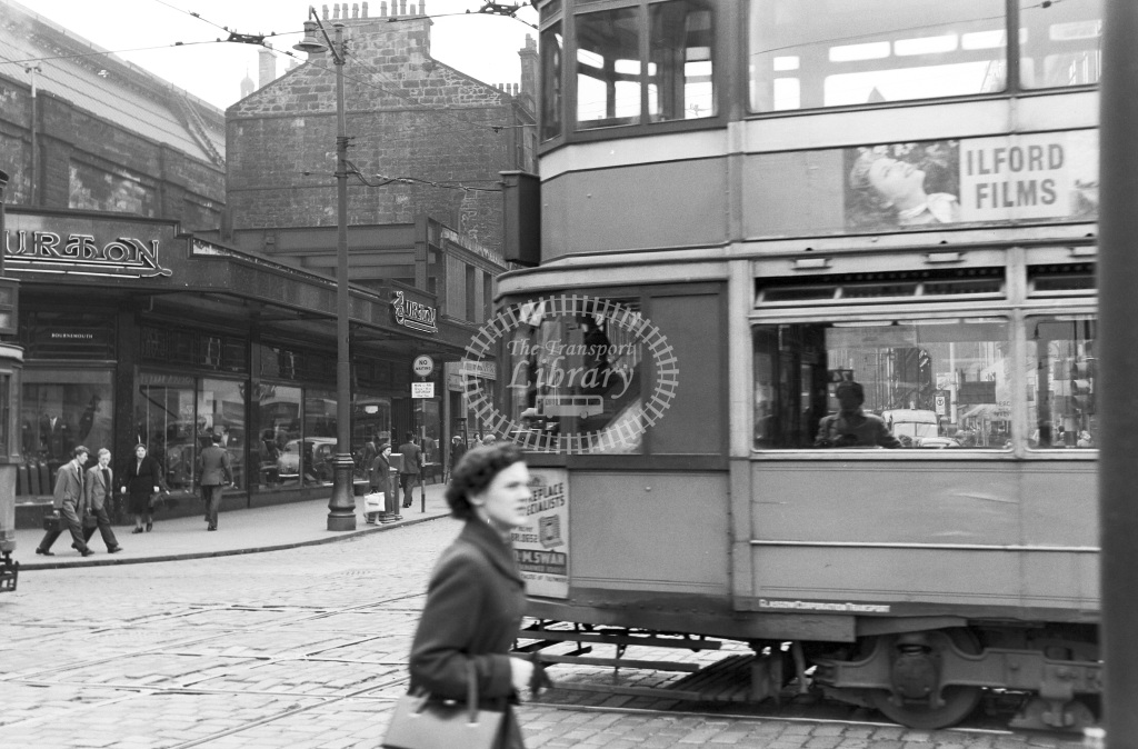 Glasgow Corporation Tramways Tram/Strassenbahn Class Standard Car  at City centre, Glasgow  in 1957 -  12/06/1957  - Peter Gray