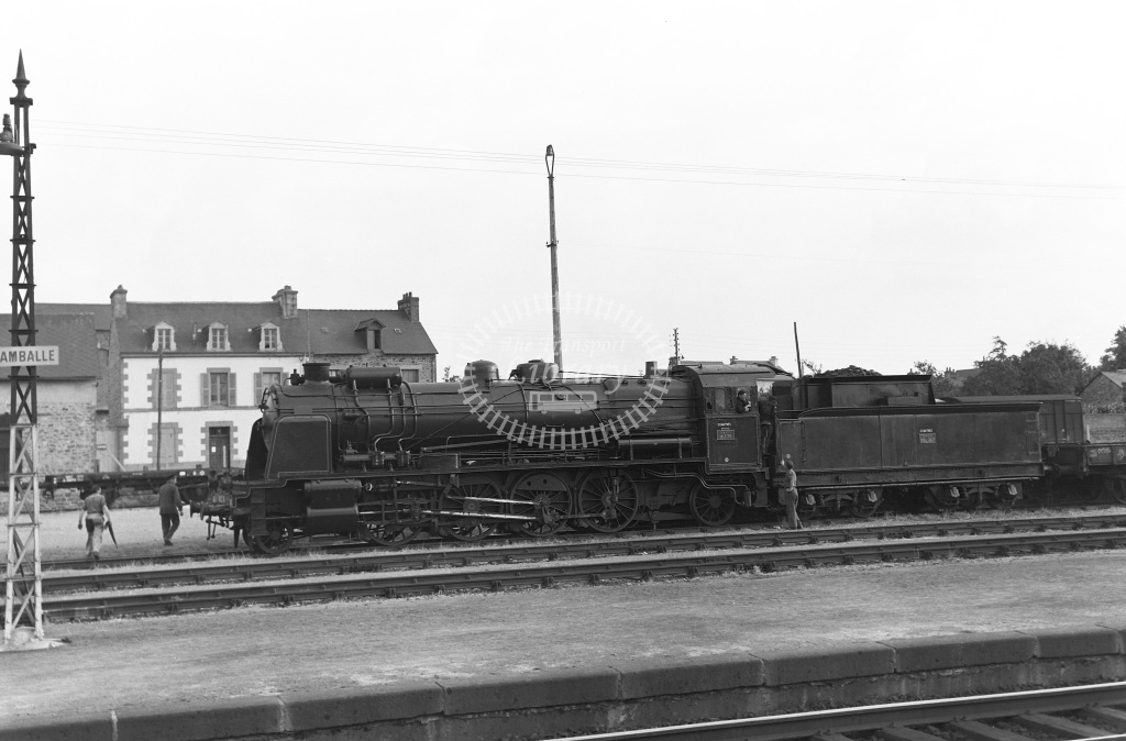 SNCF French Railways Steam Locomotive 141 C 76  at Lamballe  in 1957 -  06/07/1957  - Peter Gray