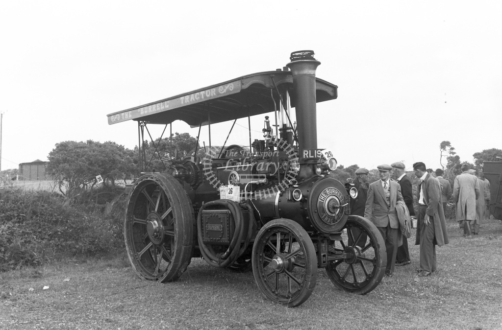Private Owner Traction Engine Class Burrell Showman's tractor (4028/25) RL 1978  at Camborne  in 1957 -  20/07/1957  - Peter Gray