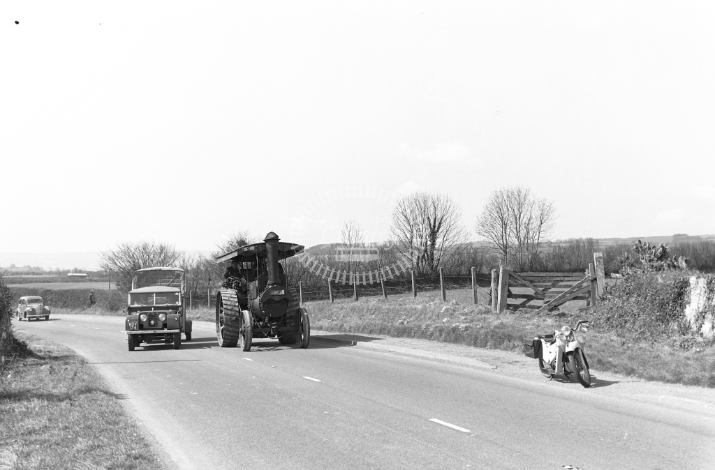 Private Owner Traction Engine Class Burrell Convertible Road Roller b. 1912 TA 451  in 1958 -  12/04/1958  - Peter Gray