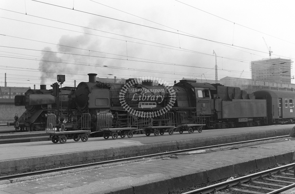 DB West Germany Railways Deutsche Bundesbahn Steam Locomotive Nos 18 610 and 01 102  at Munich (M?nchen)  in 1958 -  21435  - Peter Gray