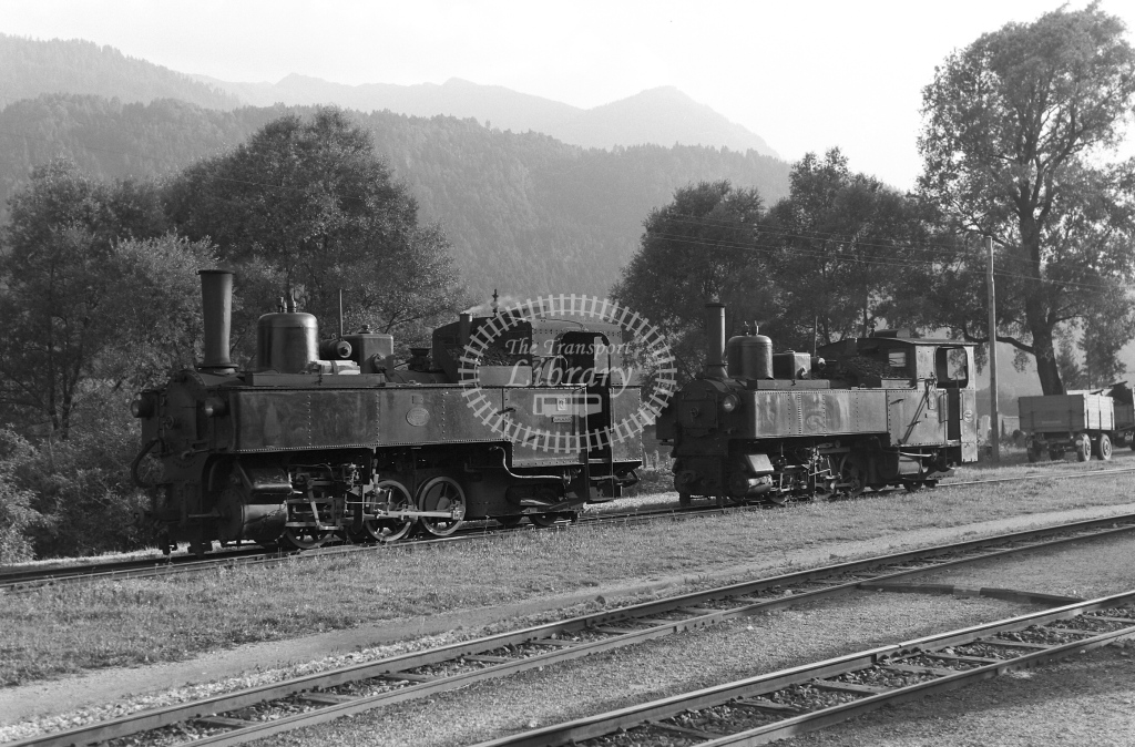 Zillertalbahn Steam Locomotive Nos 3 and 2  at Jenbach  in 1958 -  21440  - Peter Gray