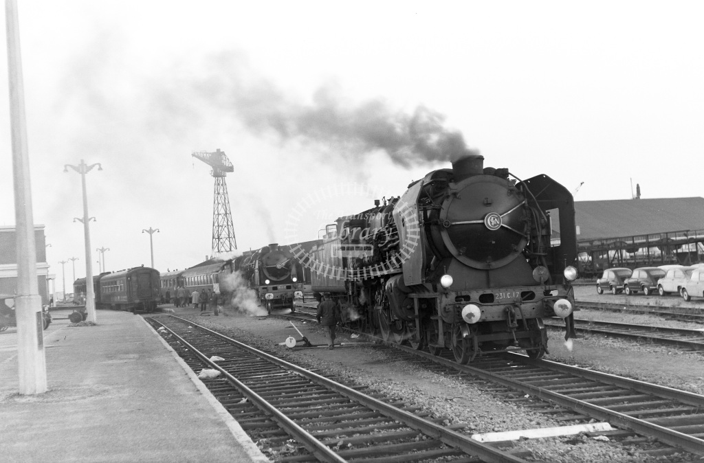 SNCF French Railways Steam Locomotive Class 231C 231 C 17  at Dunkirk  in 1959 -  13/06/1959  - Peter Gray