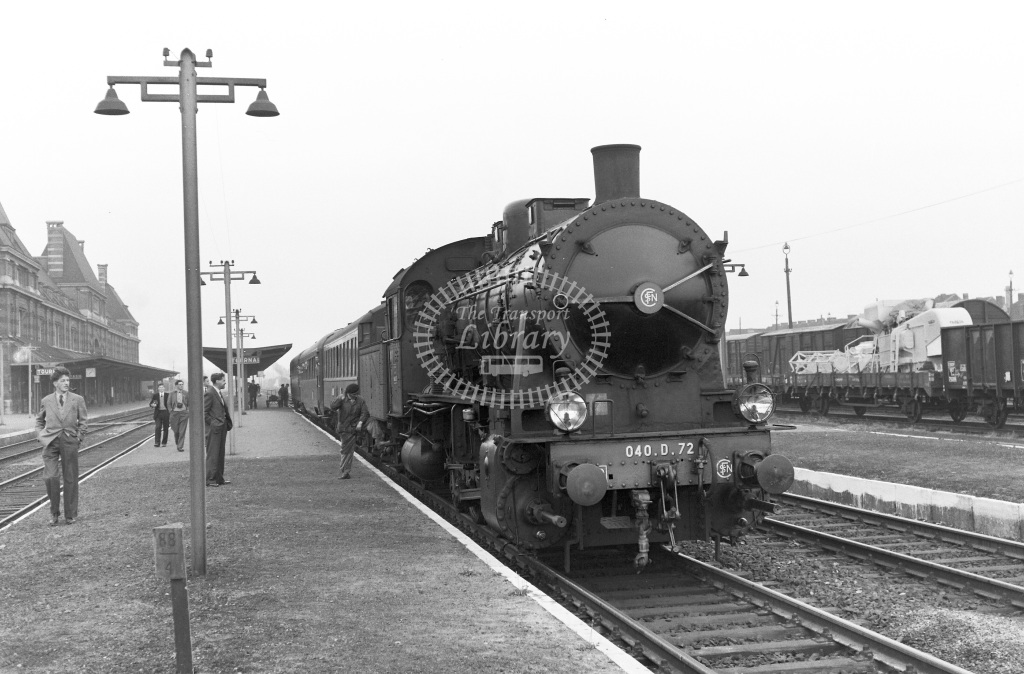 SNCF French Railways Steam Locomotive Class 040D 040 D 72  at Tournai  in 1959 -  13/06/1959  - Peter Gray