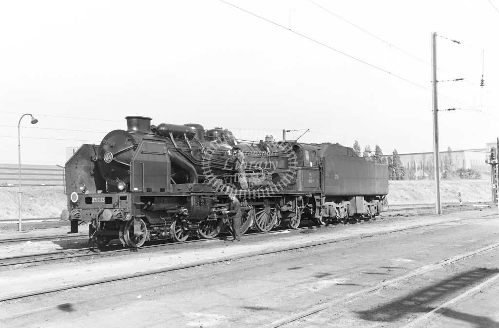 SNCF French Railways Steam Locomotive Class 231E 231 E 33  at Lille  in 1959 -  14/06/1959  - Peter Gray