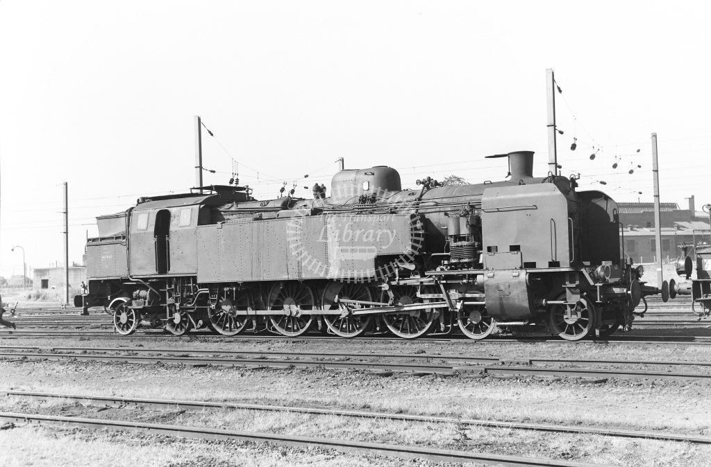 SNCF French Railways Steam Locomotive Class 242TA 242 TA 43  at Lille  in 1959 -  14/06/1959  - Peter Gray