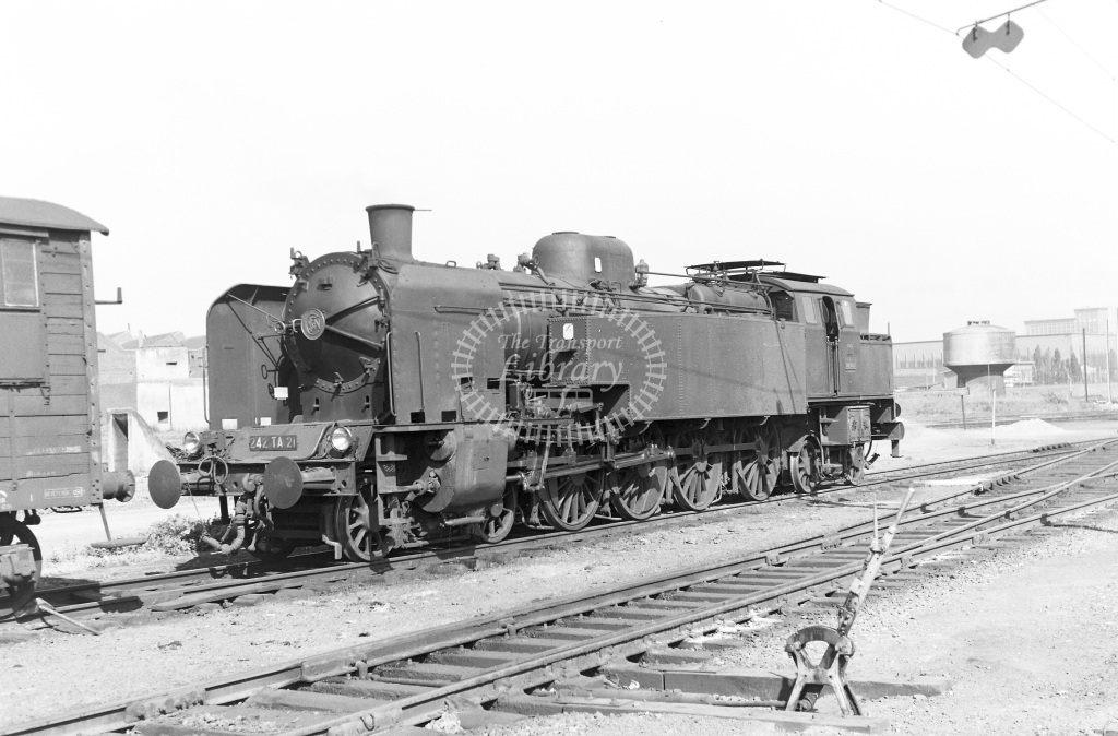 SNCF French Railways Steam Locomotive Class 242TA 242 TA 21  at Lille  in 1959 -  14/06/1959  - Peter Gray