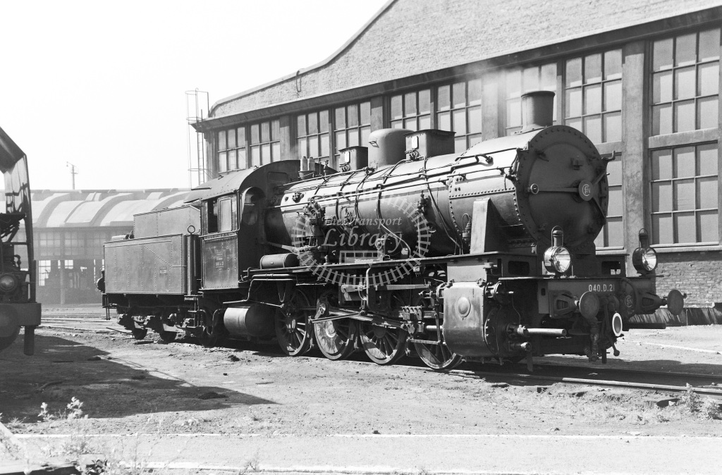SNCF French Railways Steam Locomotive Class 040D 040 D 21  at Lille  in 1959 -  14/06/1959  - Peter Gray