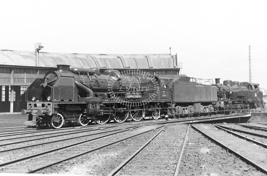SNCF French Railways Steam Locomotive Class 231E 231 E 11  at Lille  in 1959 -  14/06/1959  - Peter Gray