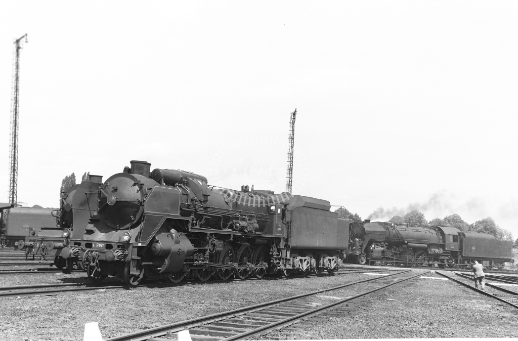 SNCF French Railways Steam Locomotive Class 150B 150 B 4  at Lille  in 1959 -  14/06/1959  - Peter Gray