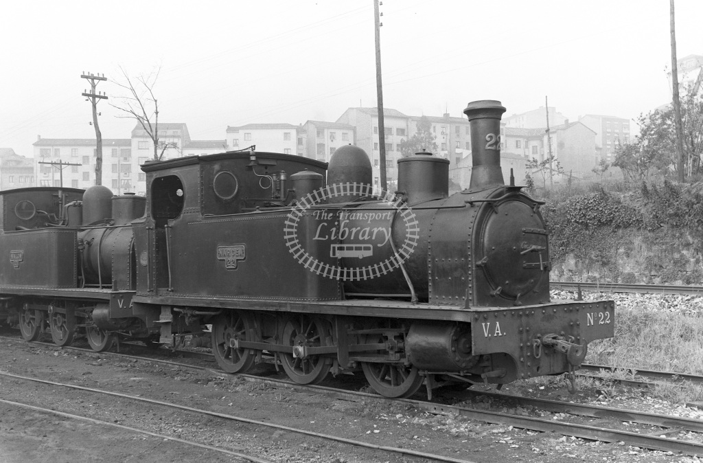 VA Ferrocarril Vasco Asturiano Steam Locomotive Class  22  at Oviedo  in 1960 -  20/05/1960  - Peter Gray