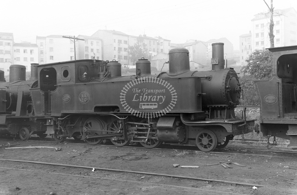 VA Ferrocarril Vasco Asturiano Steam Locomotive Class  10  at Oviedo  in 1960 -  20/05/1960  - Peter Gray