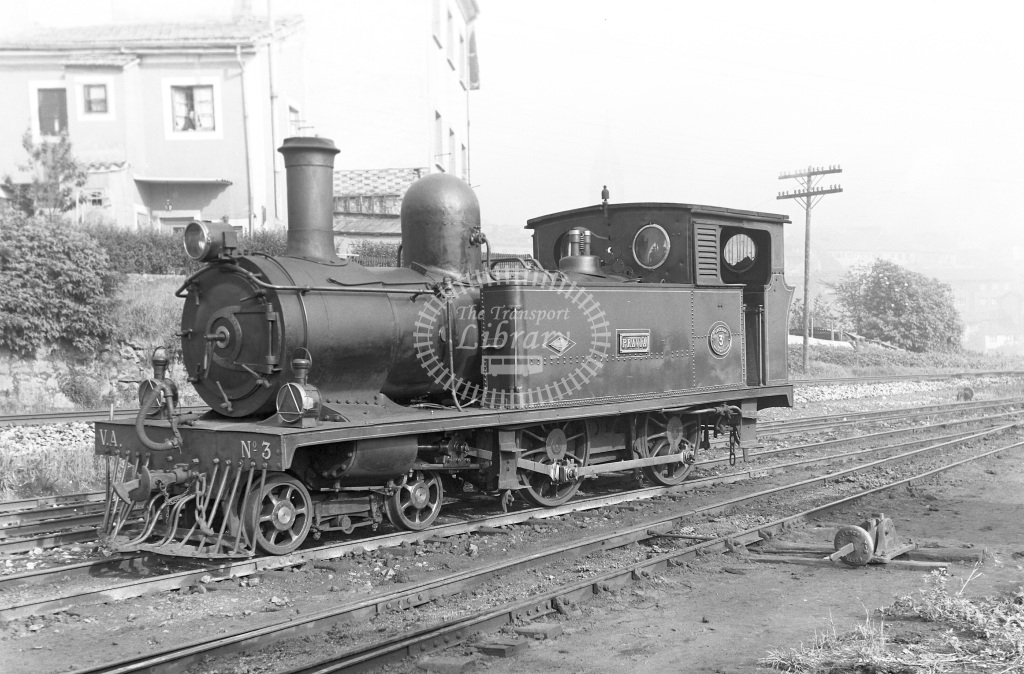 VA Ferrocarril Vasco Asturiano Steam Locomotive Class  3  at Oviedo  in 1960 -  20/05/1960  - Peter Gray