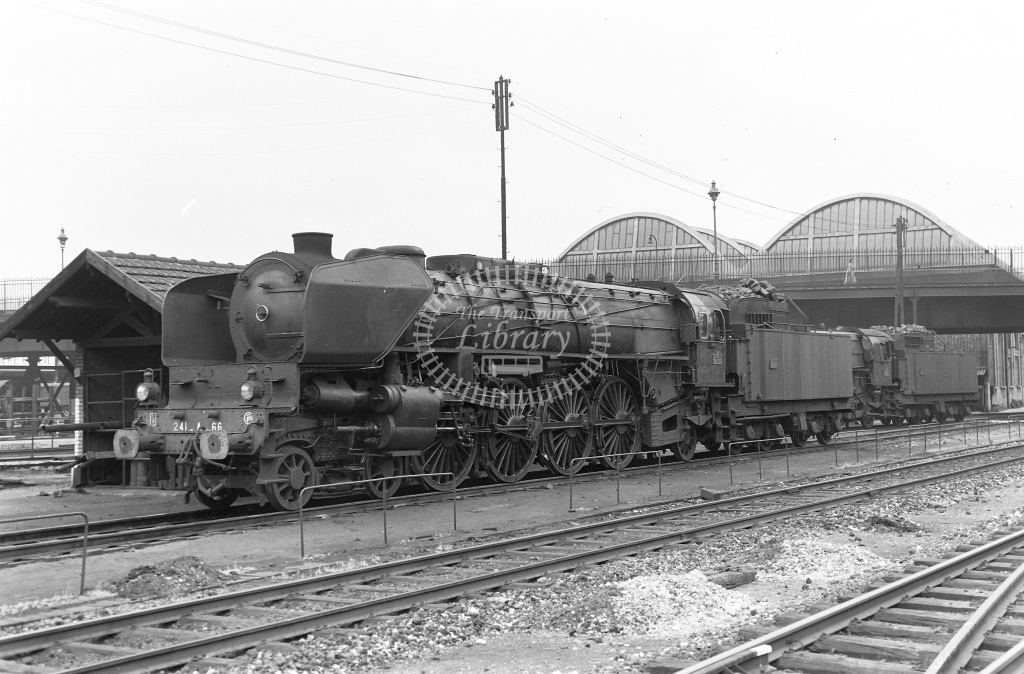 SNCF French Railways Steam Locomotive Class 241A 241 A 66  at Paris La Villette  in 1960 -  29/05/1960  - Peter Gray