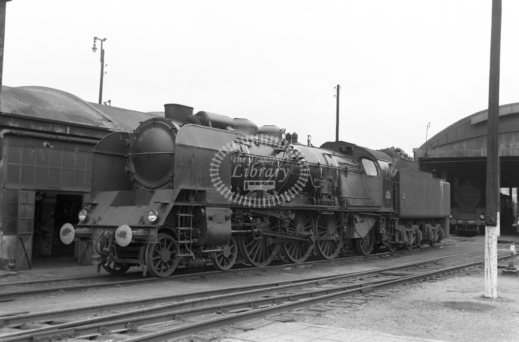 SNCF French Railways Steam Locomotive Class 231K 231 K 55  at Paris La Villette  in 1960 -  29/05/1960  - Peter Gray