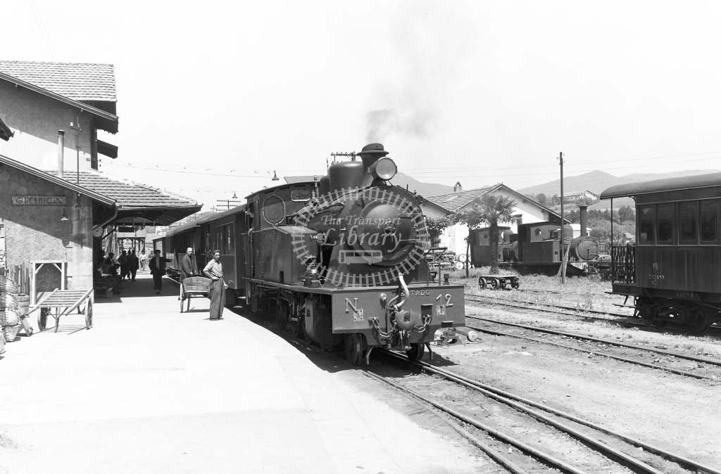 VN Spain Steam Locomotive Class 2-6-2T 12  at Guernica  in 1961 -  13/05/1961  - Peter Gray