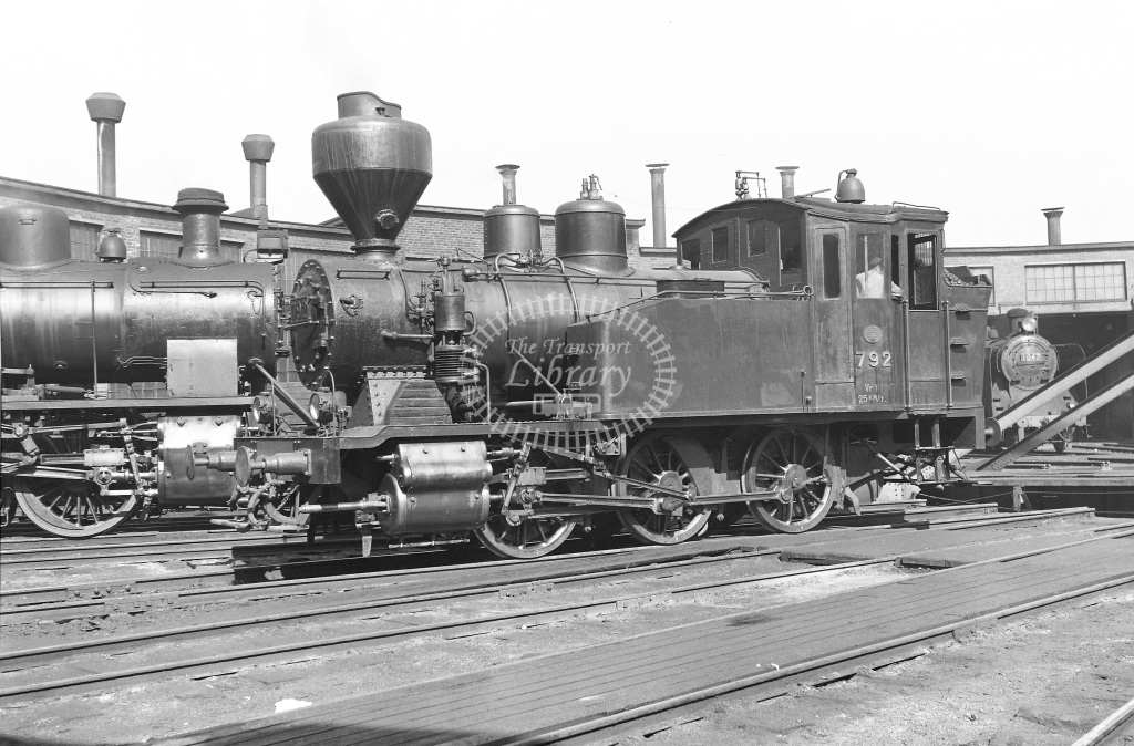VR Finland Railways Steam Locomotive Class Vr Class Vr1 0-6-0T 792  at Pasila MPD  in 1962 -  21/05/1962  - Peter Gray
