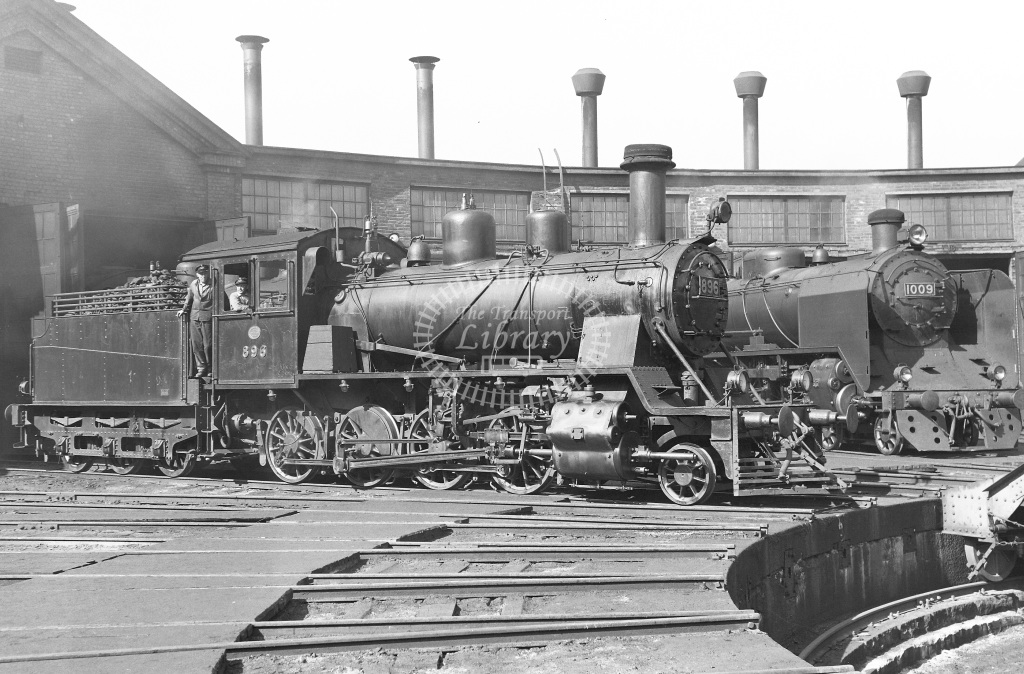 VR Finland Railways Steam Locomotive Class Vr Class Tk3 2-8-0 Vr Class Hr1 4-6-2 896 1009  at Pasila MPD  in 1962 -  21/05/1962  - Peter Gray