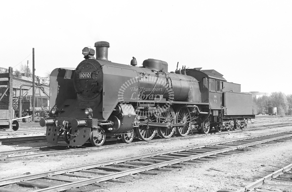 VR Finland Railways Steam Locomotive Class Vr Class Hr1 4-6-2 1010  at Pasila MPD  in 1962 -  21/05/1962  - Peter Gray