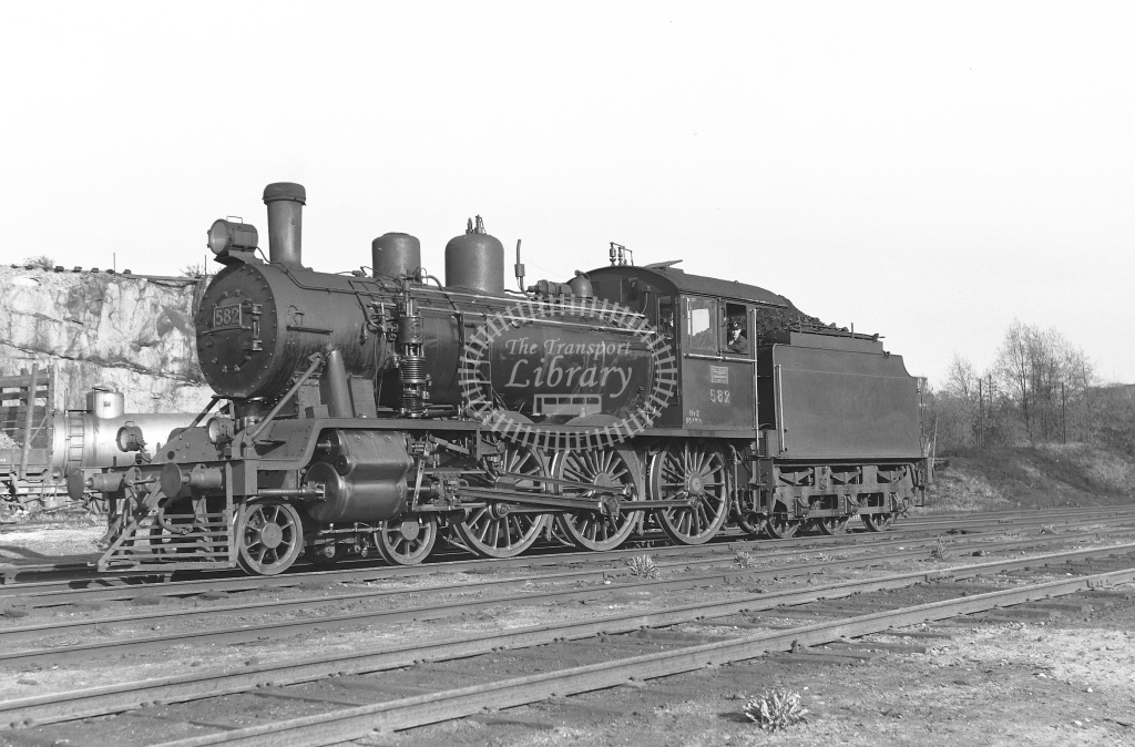 VR Finland Railways Steam Locomotive Class Vr Class Hv2 4-6-0 582  at Pasila MPD  in 1962 -  21/05/1962  - Peter Gray