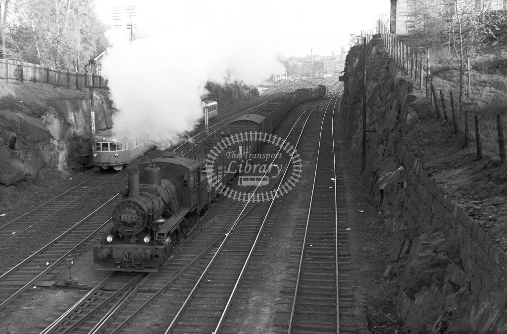 VR Finland Railways Steam Locomotive Class Vr Class Vr5 0-6-2T 1403  at Nr. Helsinki  in 1962 -  21/05/1962  - Peter Gray