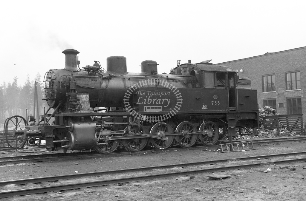 VR Finland Railways Steam Locomotive Class Vr Class Vr3 0-10-0T 753  in 1962 -  01/05/1962  - Peter Gray