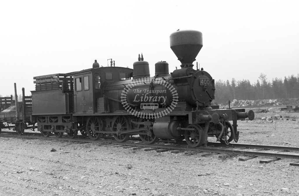 VR Finland Railways Steam Locomotive Class Vr Class Sk3 2-6-0 400  in 1962 -  01/05/1962  - Peter Gray