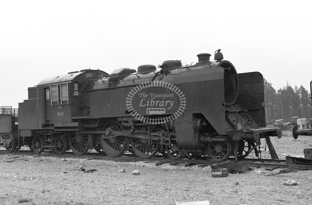 VR Finland Railways Steam Locomotive Class Vr Class Pr2 4-6-4T 1802  in 1962 -  01/05/1962  - Peter Gray