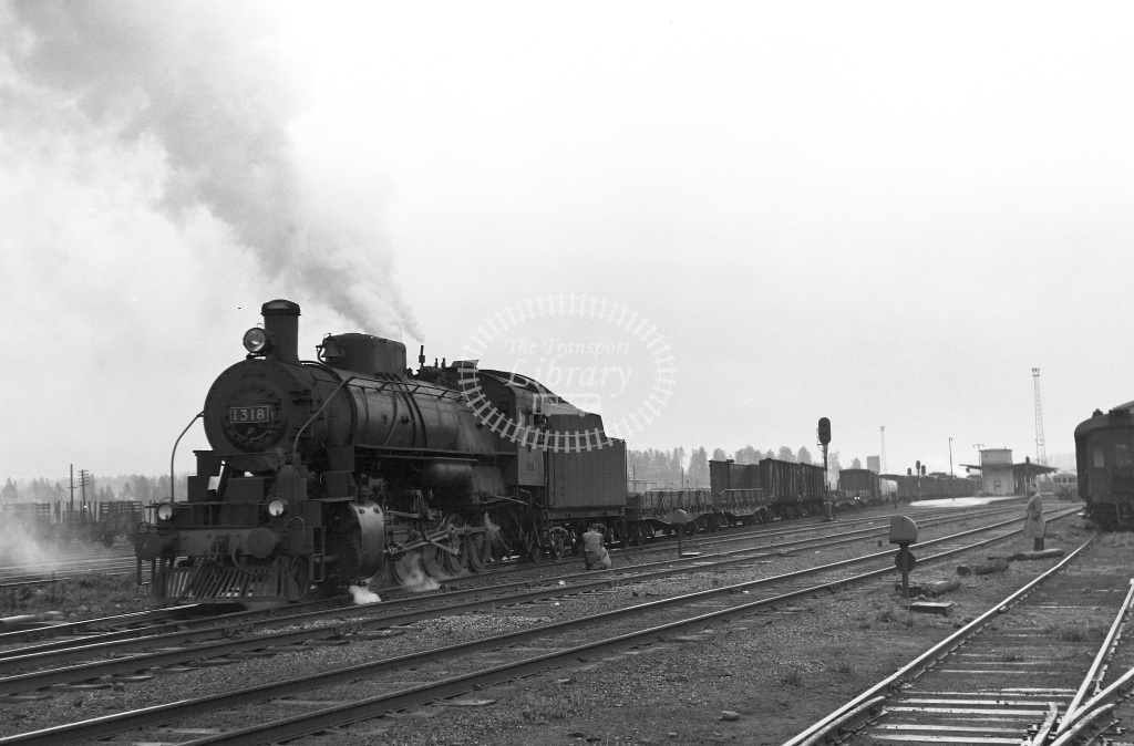 VR Finland Railways Steam Locomotive Class Vr Class Tr2 2-10-0 1318  in 1962 -  01/05/1962  - Peter Gray
