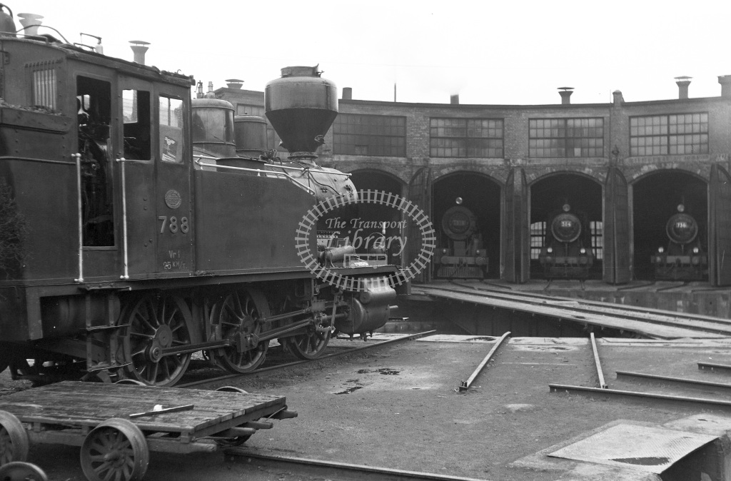 VR Finland Railways Steam Locomotive Class Vr Class Vr1 0-6-0T 788  in 1962 -  01/05/1962  - Peter Gray