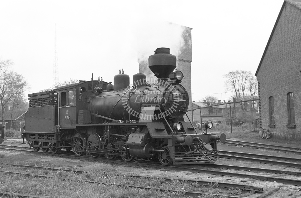VR Finland Railways Steam Locomotive Class Vr Class Tk3 2-8-0 886  in 1962 -  01/05/1962  - Peter Gray