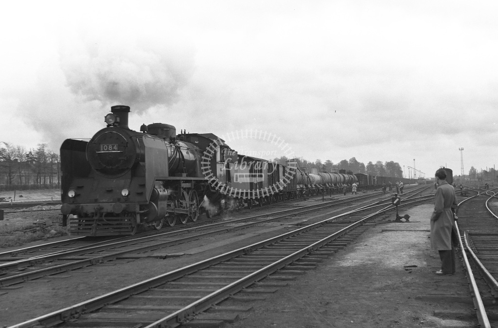 VR Finland Railways Steam Locomotive Class Vr Class Tr1 2-8-2 1084  in 1962 -  01/05/1962  - Peter Gray