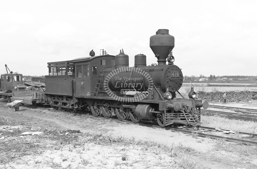 VR Finland Railways Steam Locomotive Class Vr Class Tk2 2-8-0 419  in 1962 -  01/05/1962  - Peter Gray