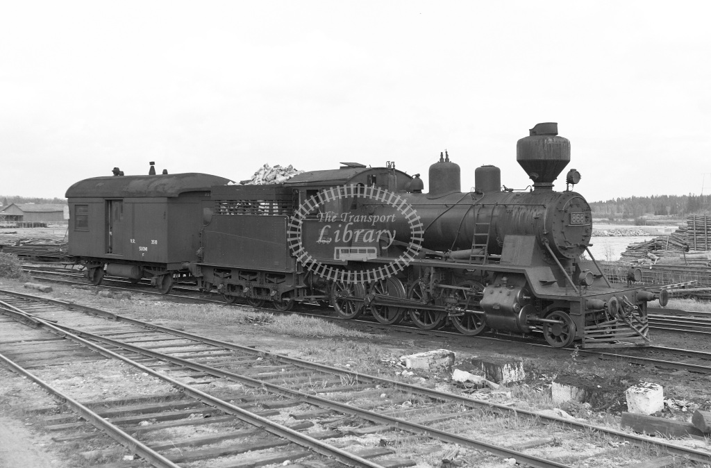 VR Finland Railways Steam Locomotive Class Vr Class Tk3 2-8-0 868  in 1962 -  01/05/1962  - Peter Gray