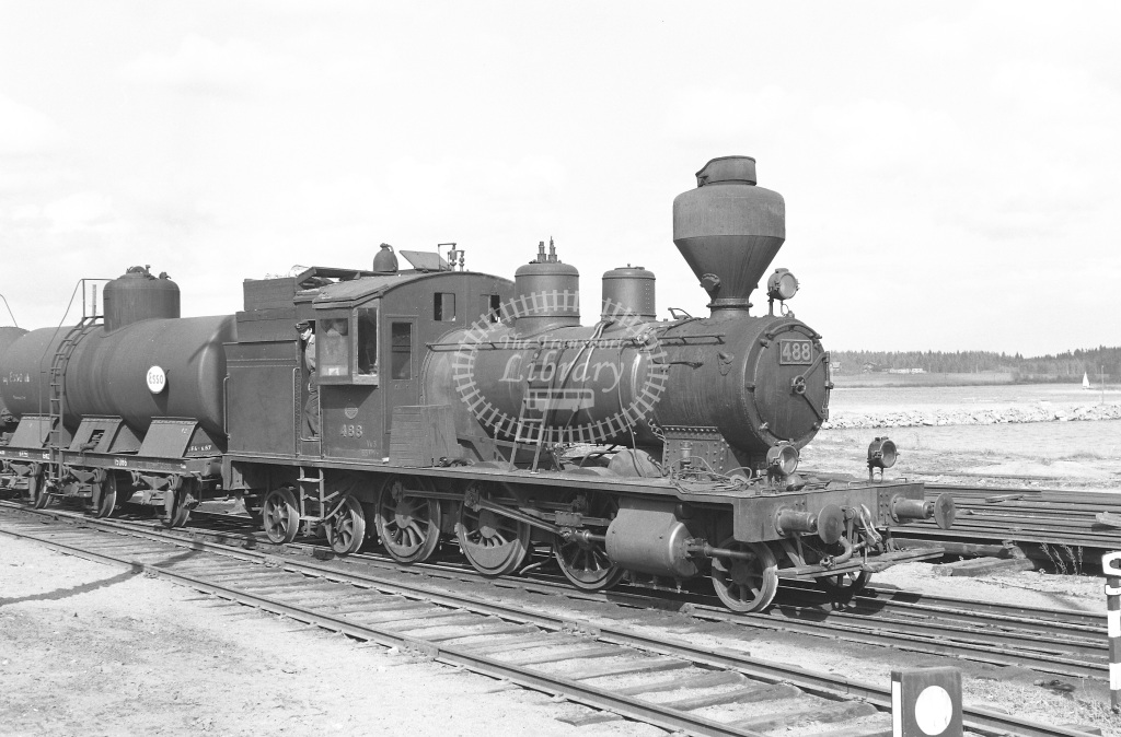 VR Finland Railways Steam Locomotive Class Vr Class Vk3 2-6-4T 488  in 1962 -  01/05/1962  - Peter Gray