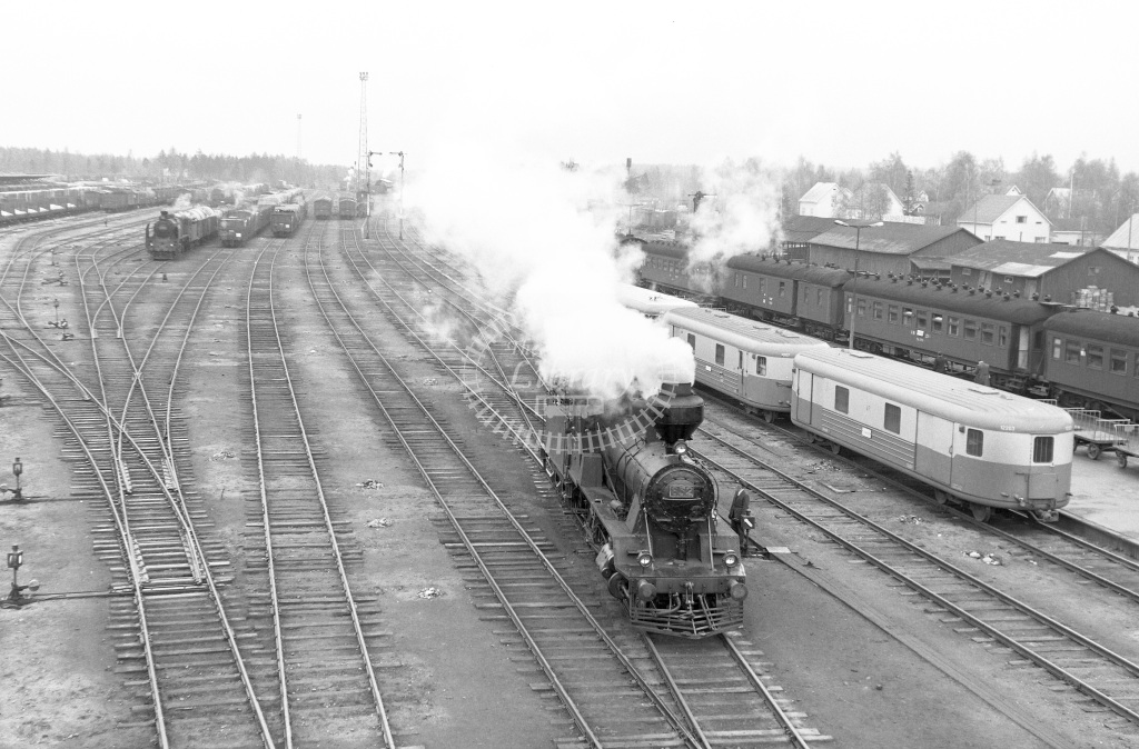 VR Finland Railways Steam Locomotive Class Vr Class Tk3 2-8-0 852  in 1962 -  01/05/1962  - Peter Gray