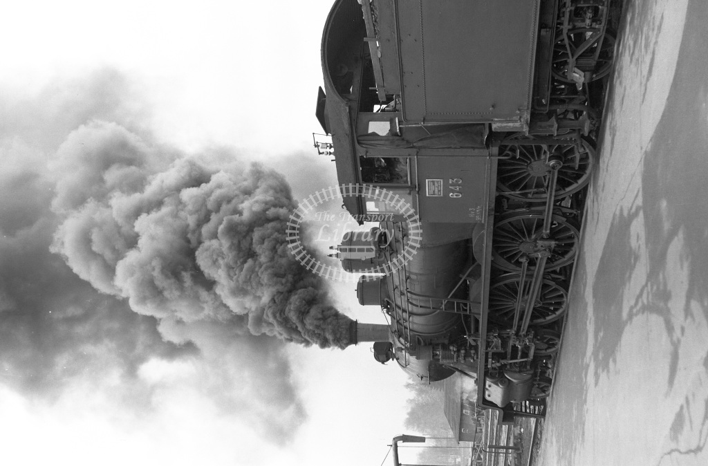 VR Finland Railways Steam Locomotive Class Vr Class Hv3 4-6-0 643  in 1962 -  01/05/1962  - Peter Gray