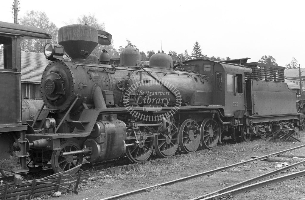 VR Finland Railways Steam Locomotive Class Vr Class Tv2 2-8-0 625  in 1962 -  01/05/1962  - Peter Gray