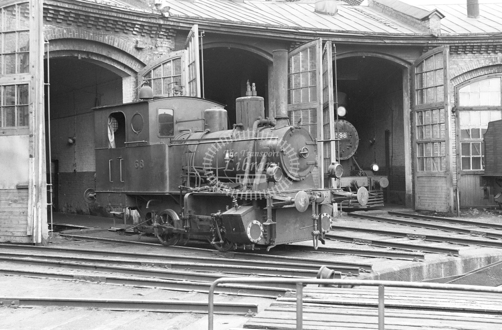 VR Finland Railways Steam Locomotive Class Vr Class Vk4 0-4-0T 68  in 1962 -  01/05/1962  - Peter Gray