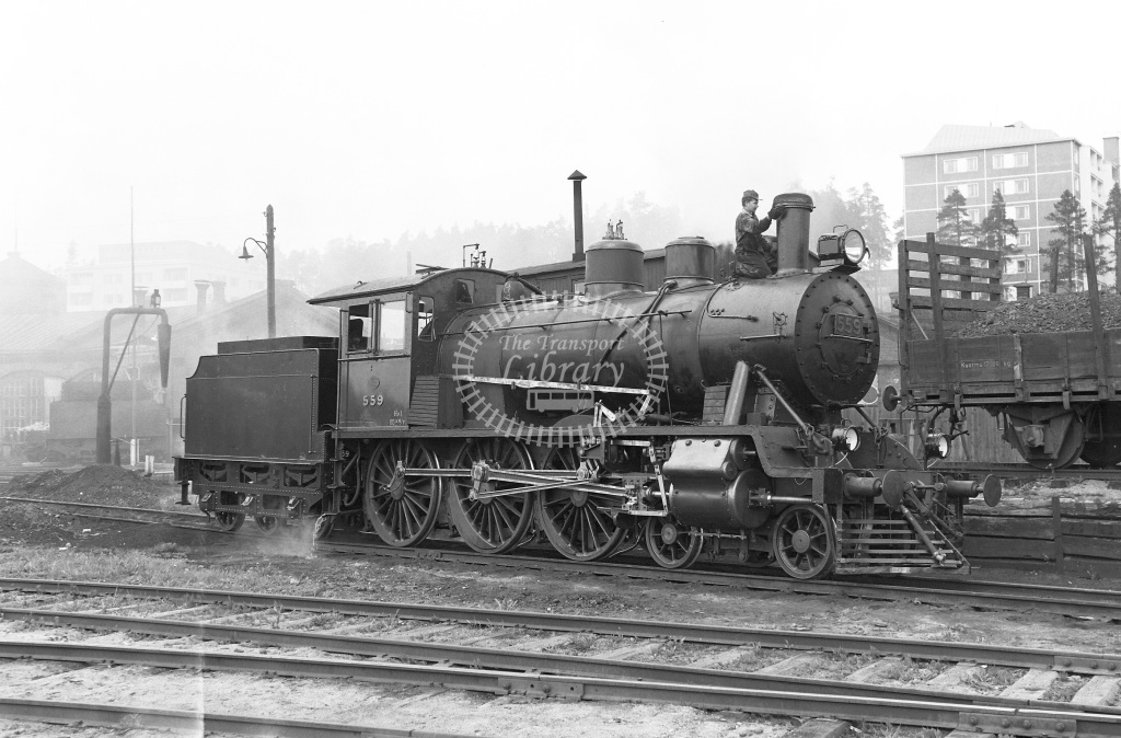 VR Finland Railways Steam Locomotive Class Vr Class Hv1 4-6-0 559  in 1962 -  01/05/1962  - Peter Gray